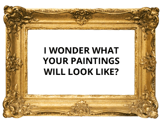 Blank painting image full of opportunity